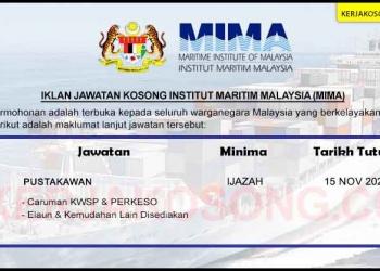 Institut Maritim Malaysia MIMA KC OKT 2020