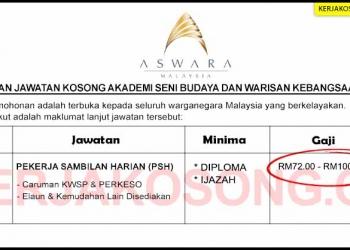 Jawatan Kosong Akademi Seni Budaya Dan Warisan Kebangsaan ASWARA KC COVER SEP 2020