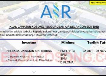 Jawatan Kosong Pengurusan Air Selangor