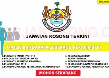Majlis Bandaraya Seberang Perai MBSP OKT 2020