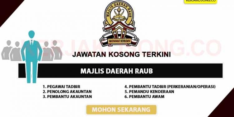 Jawatan Kosong Majlis Daerah Raub