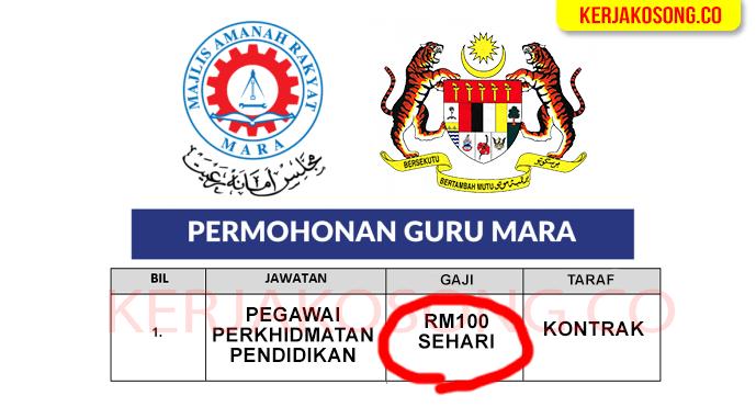 Iklan Guru Maktab Rendah Sains Mara MRSM Kedah 2021