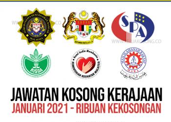 Jawatan Kosong Januari Kerajaan Kementerian Jabatan 2021