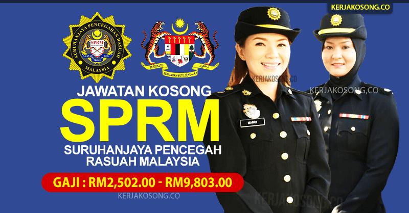 Jawatan Kosong SPRM Suruhanjaya Pencegahan Rasuah Malaysia Terkini