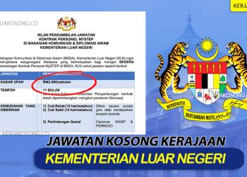kerjaya kementerian luar negeri malaysia
