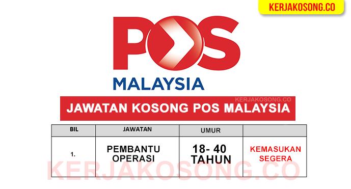 Iklan Jawatan Pos Malaysia table 2021 terkini