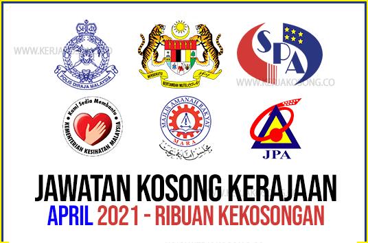 Jawatan Kosong April Kerajaan Kementerian Jabatan 2021