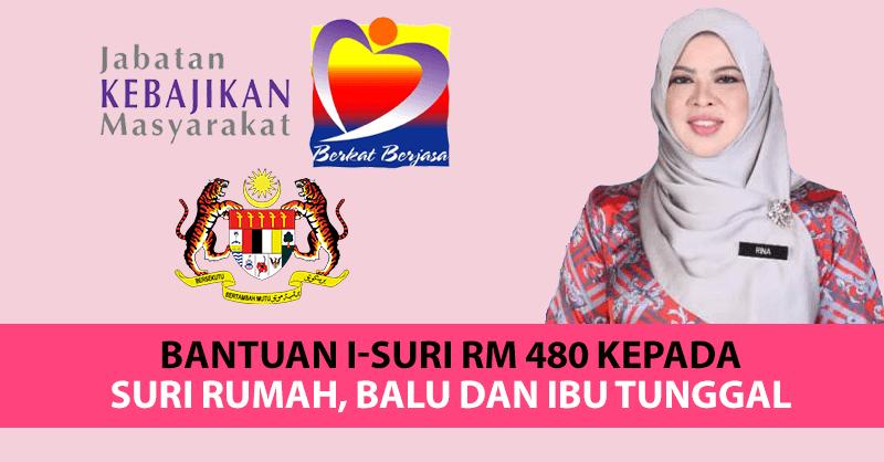 Panduan Permohonan Bantuan i-Suri RM 480 Kepada Suri Rumah