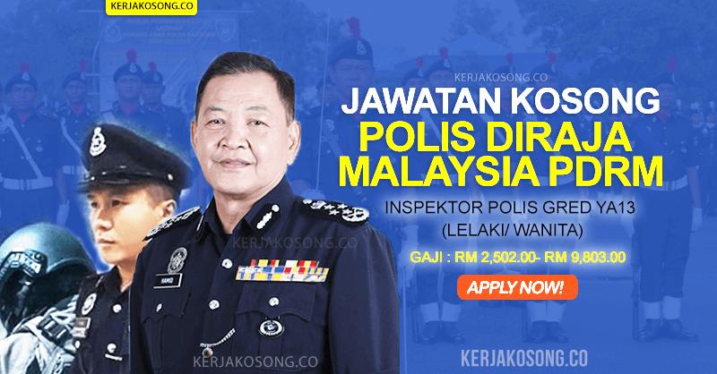 jawatan kosong polis diraja malaysia pdrm 2021 inspektor polis