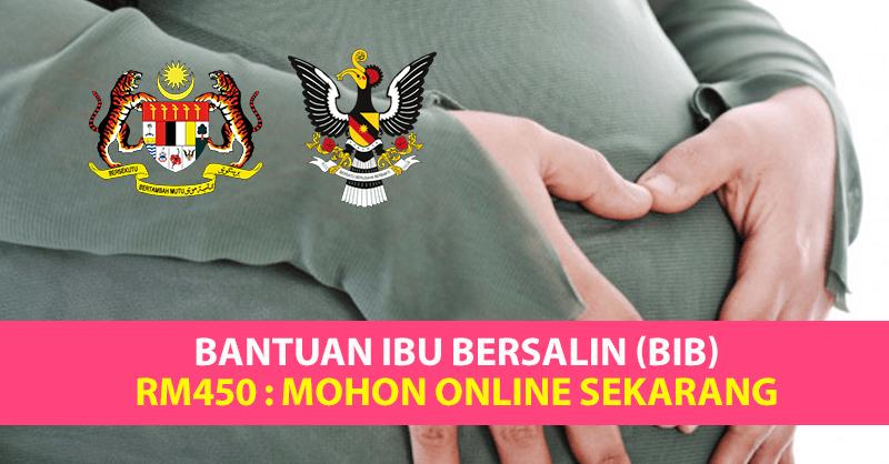 Bantuan Ibu Bersalin (BIB) RM450 Cara Permohonan Online