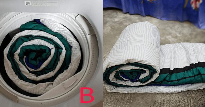 Cara Nak Basuh Comforter Guna Mesin Basuh Di Rumah. Jom Gulung Ikut Teknik Ini