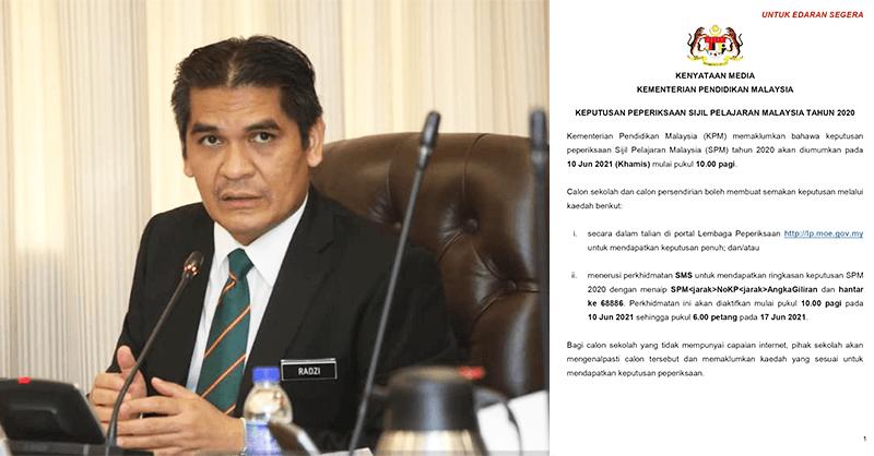 Keputusan SPM 2020 Akan Diumumkan Pada 10 Jun 2021. Lihat Cara Semakan!