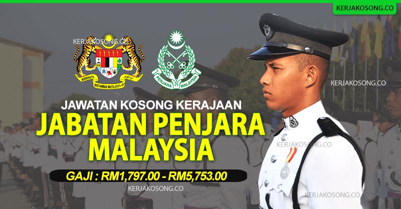 jabatan penjara malaysia jawatan kosong terkini