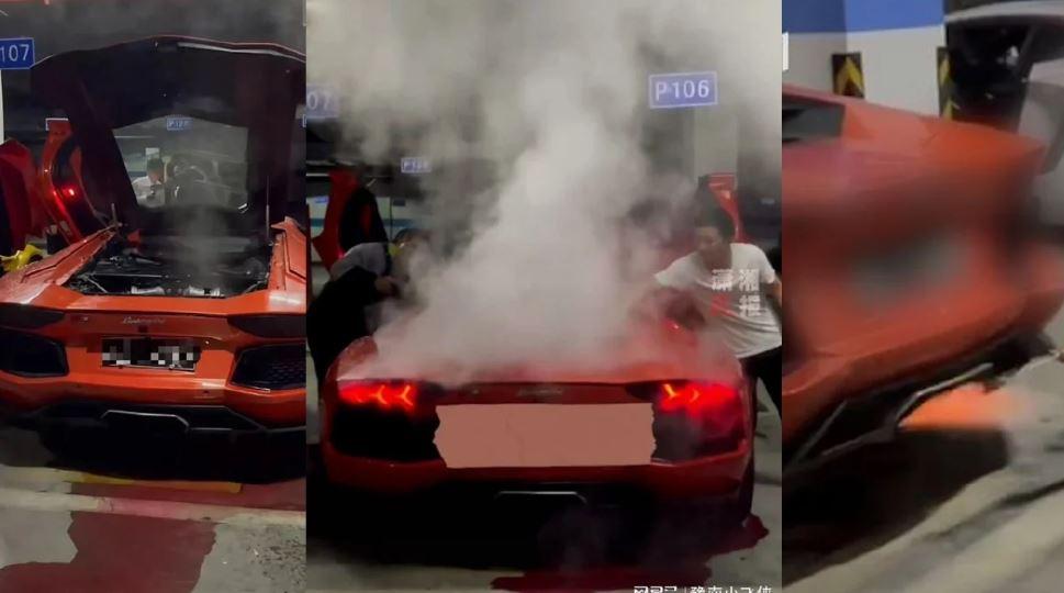 Padah Pemilik Lamborghini Panggang Daging Babi Pada Ekzos