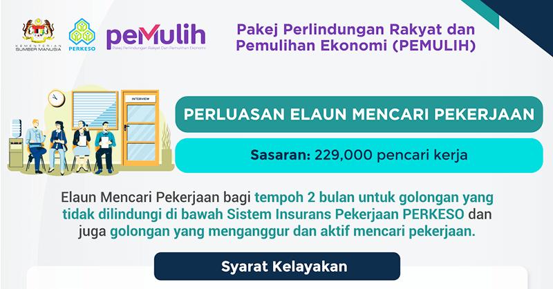 Elaun Mencari Pekerjaan (EMP): Bantuan Elaun Kepada Bukan Pencarum PERKESO RM300