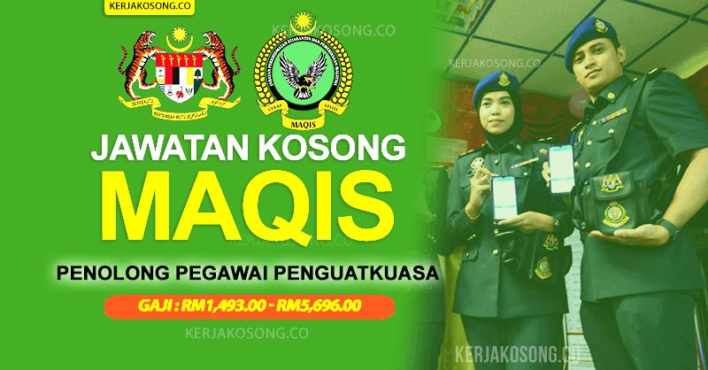Jawatan Kosong Jabatan Perkhidmatan Kuarantin Dan Pemeriksaan Malaysia MAQIS 2021